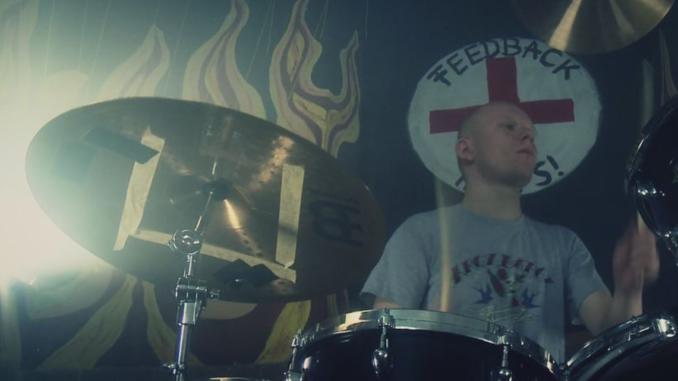 Schlagzeug beim Videodreh